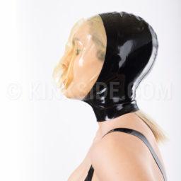 Latex breathplay hood